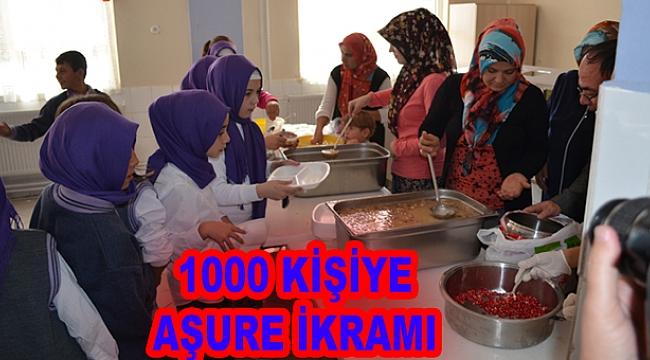 1000 KİŞİYE  AŞURE DAĞITILDI