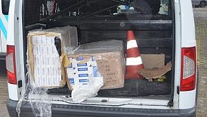 Bin 400 Paket Kaçak Sigara Ele Geçirildi.