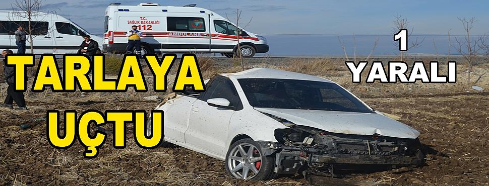 Otomobil Tarlaya Uçtu; 1 Yaralı