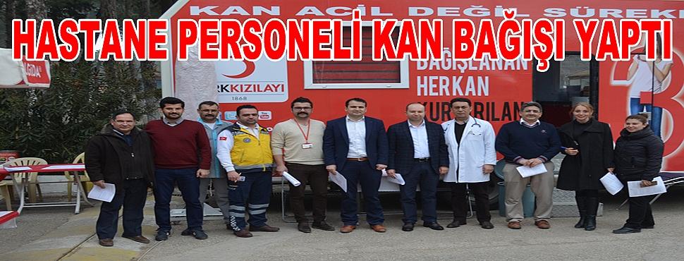 Devlet Hastanesi'nden Kızılay'a Kan Bağışı