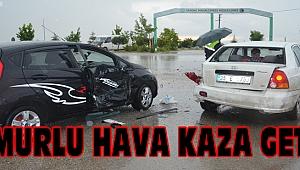 Yağmurlu Hava Kaza Getirdi: 1 Yaralı