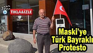 Maski'ye Türk Bayraklı Protesto
