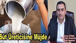 Süt üreticisine müjde