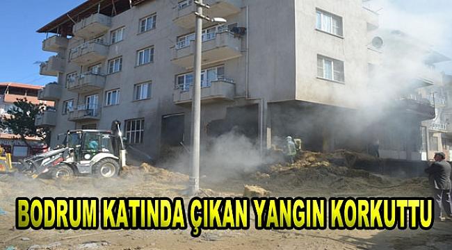 Binanın Bodrum Katında Çıkan Yangın Korkuttu