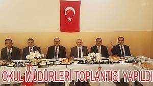 Okul Müdürleri Toplantısı Kaymakam Güven Başkanlığında Yapıldı