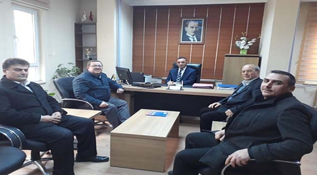 Başkanlardan Vergi Dairesi Müdürüne Ziyaret