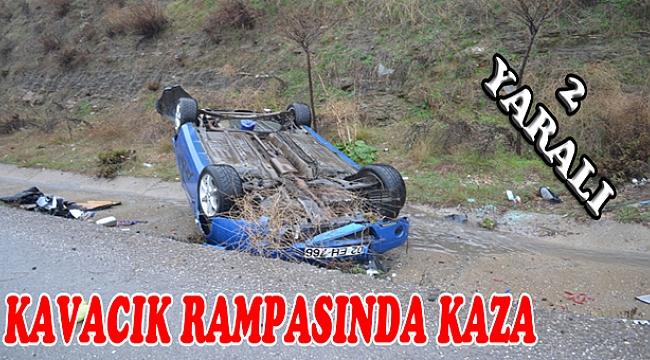 Kavacık Rampasında Kaza 2 Yaralı