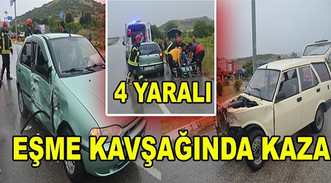 Eşme Kavşağında Kaza: 4 Yaralı