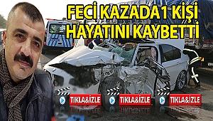 Otomobil Kamyona Çarptı: 1 Ölü 3  Yaralı