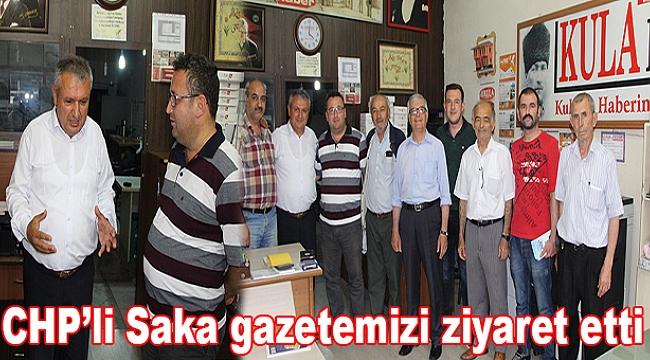 CHP'li Saka gazetemizi ziyaret etti