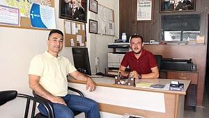 Üsteğmen Hayta'dan gazetemize veda ziyareti