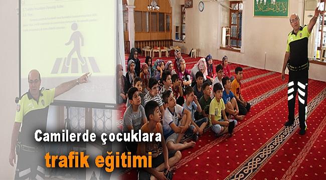 Camilerde çocuklara trafik eğitimi