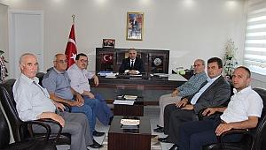 Başkanlardan yeni kaymakam Kemal Duru'ya ziyaret
