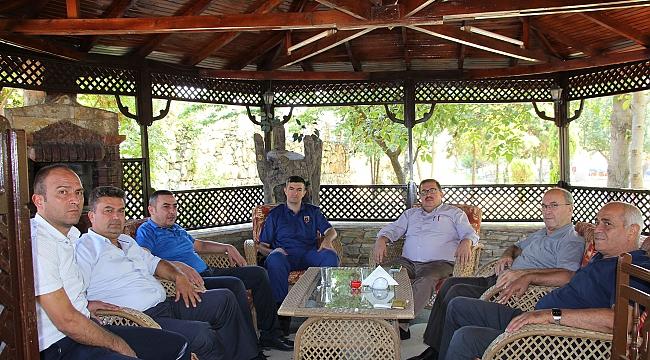 Başkanlardan yeni komutana ziyaret