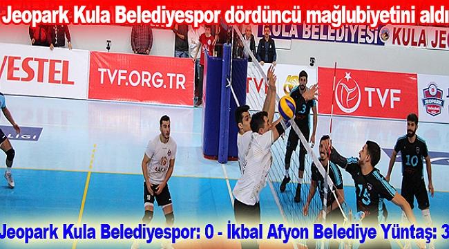 Jeopark Kula Belediyespor: 0 - İkbal Afyon Belediye Yüntaş: 3