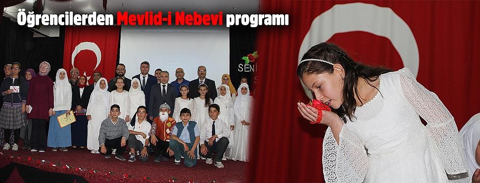 Öğrencilerden Mevlid-i Nebevi programı