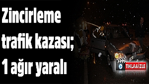 Kula'da zincirleme trafik kazası; 1 ağır yaralı