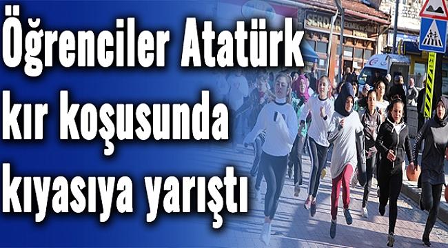 Öğrenciler Atatürk kır koşusunda kıyasıya yarıştı