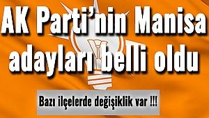 AK Parti'nin Manisa adayları belli oldu
