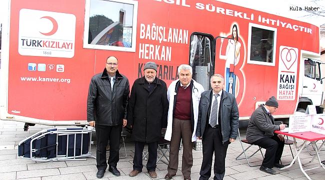 Kaymakam Duru'dan kan bağış aracına ziyaret