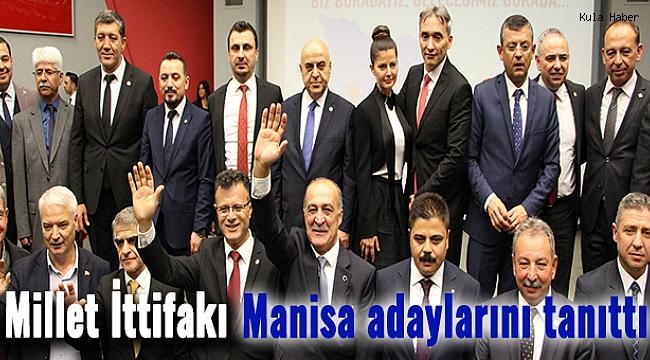Millet İttifakı Manisa adaylarını tanıttı