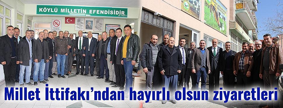 Millet İttifakı'ndan hayırlı olsun ziyaretleri