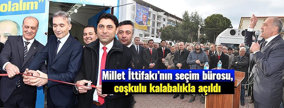 Millet İttifakı'nın seçim bürosu, coşkulu kalabalıkla açıldı