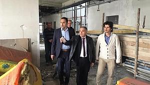 Kaymakam Duru hastane inşaatını inceledi