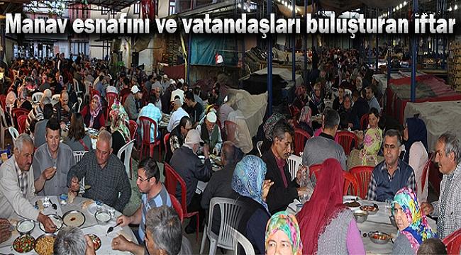 Manav esnafını ve vatandaşları buluşturan iftar