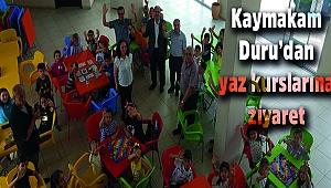 Kaymakam Duru'dan yaz kurslarına ziyaret