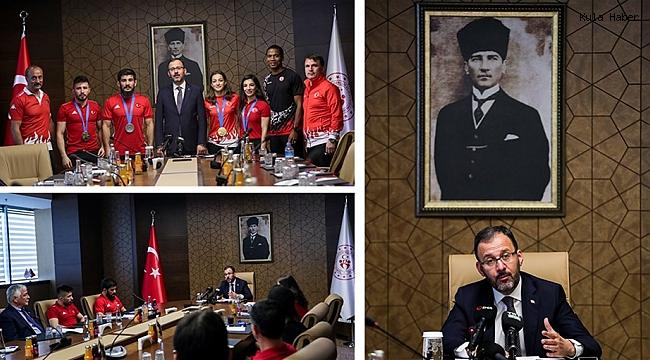 """BAKAN KASAPOĞLU; """"AMACIMIZ TÜRKİYE'NİN BİR SPOR ÜLKESİ OLMASI"""""""