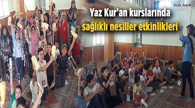 Yaz Kur'an kurslarında sağlıklı nesiller etkinlikleri