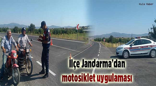Jandarma'dan motosiklet uygulaması