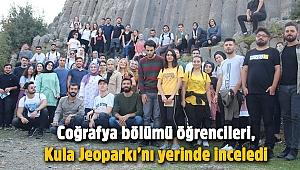 Coğrafya bölümü öğrencileri, Kula Jeoparkı'nı yerinde inceledi