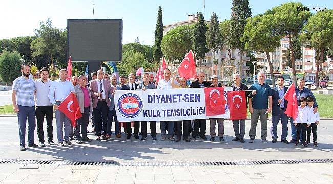 Kula Diyanet-Sen'den Barış Pınarı Harekâtına destek