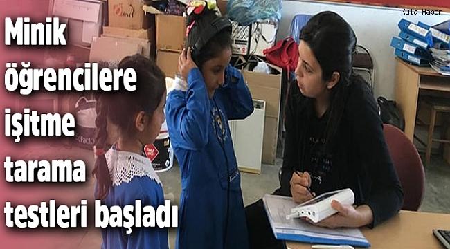 Minik öğrencilere işitme tarama testleri başladı