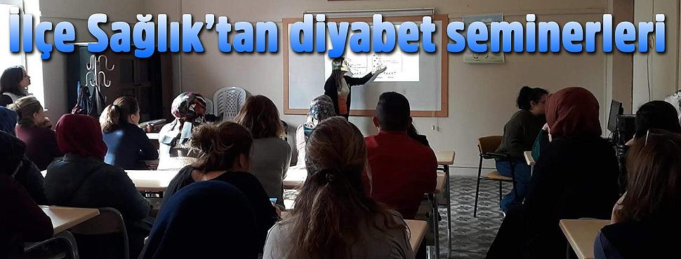 İlçe Sağlık'tan diyabet seminerleri