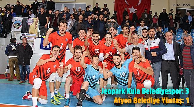 Jeopark Kula Belediyespor evinde rahat kazandı