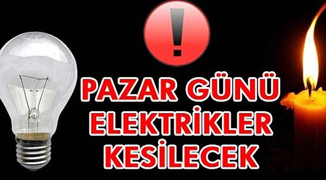 Kula'da Pazar günü elektrikler kesik olacak