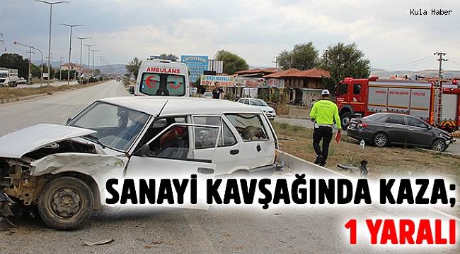 Sanayi kavşağında kaza; 1 yaralı