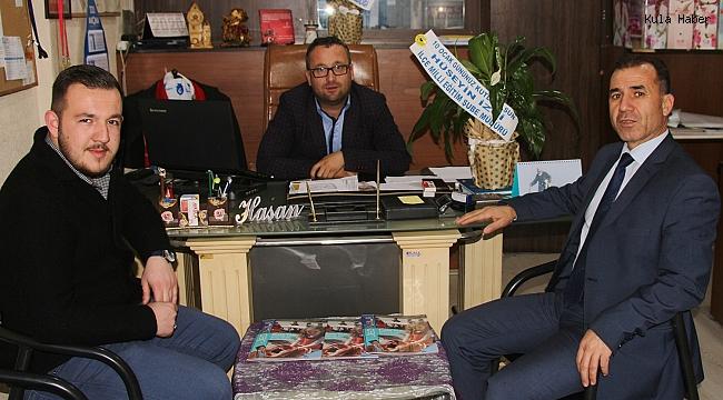 İlçe Milli Eğitim Şube Müdürü İzci'den gazetemize ziyaret