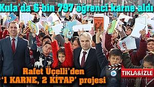 Kula'da 6 bin 797 öğrenci karne aldı