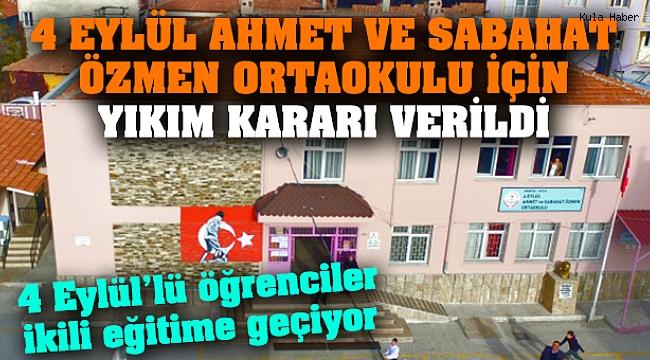 4 Eylül Ahmet ve Sabahat Özmen Ortaokulu için yıkım kararı verildi