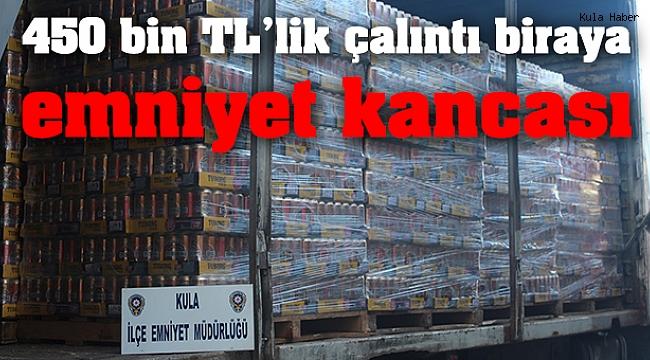 450 bin TL'lik çalıntı biraya emniyet kancası