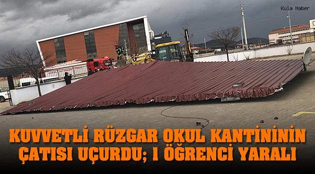 Okul kantininin uçan çatısı öğrenciyi yaraladı