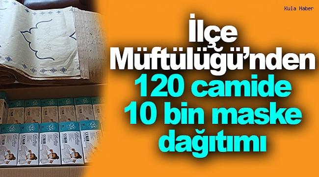 İlçe Müftülüğü'nden 120 camide 10 bin maske dağıtımı