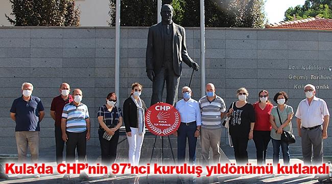 Kula'da CHP'nin 97'nci kuruluş yıldönümü kutlandı