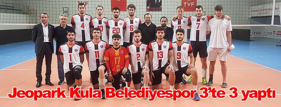 Jeopark Kula Belediyespor 3'te 3 yaptı
