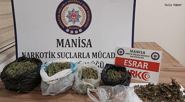 Kula'da esrar operasyonu; 1 kilo 164 gram ele geçirildi