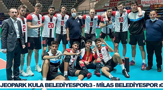 Jeopark Kula Belediyespor, lider Milas'ın galibiyet serisini bozdu